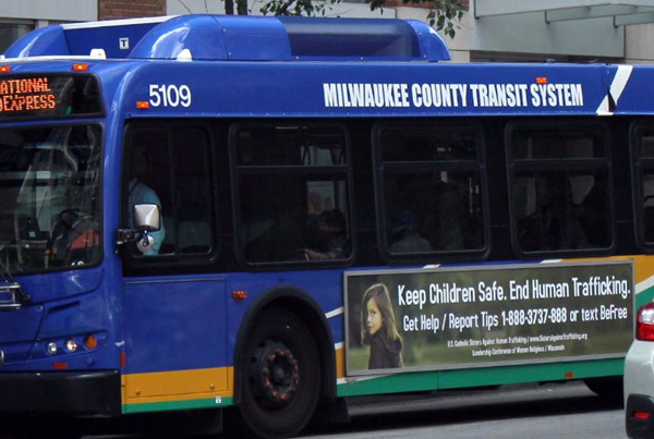 Catholic Sisters of Wisconsin raise awareness of human trafficking through bus ads
