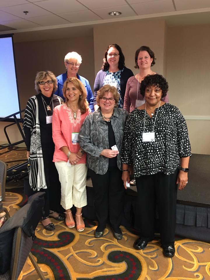 15 years of membership: Sister Joanne Gallagher, Julie Dowd, Tricia Buxton, Valerie Graczyk, Stephanie Hall, Barb Hecht, Jennifer Roseman — with Stephanie Hall, Joanne Gallagher Csj and Tricia Buxton.