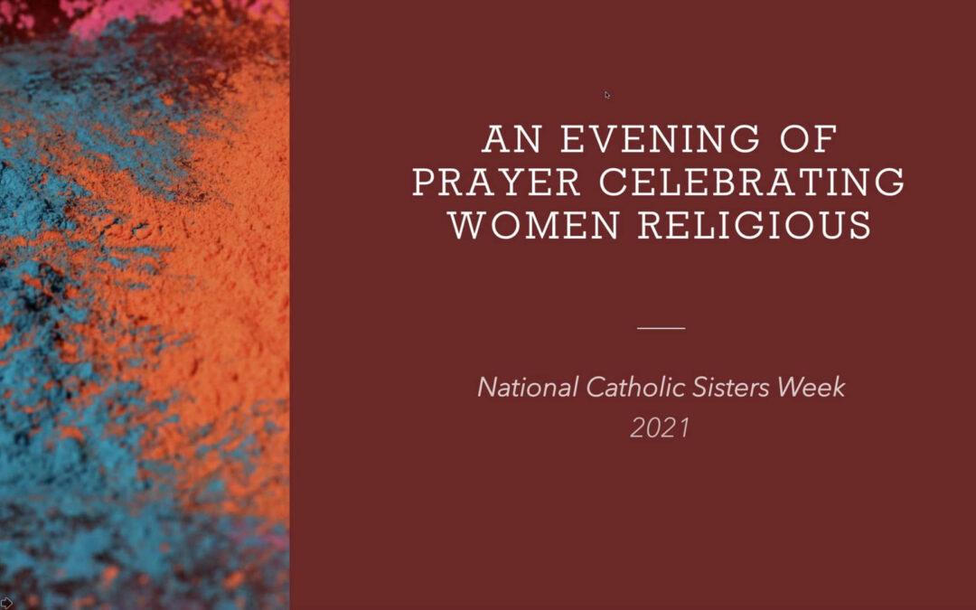 An Evening of Prayer Celebrating Women Religious